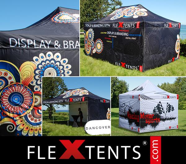 Impresión digital completa en FlexTents® - Las carpas plegables líderes en el mercado