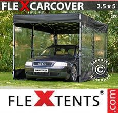 Carpa plegable FleXtents FleX Carcover, 2,5x5m, Negro